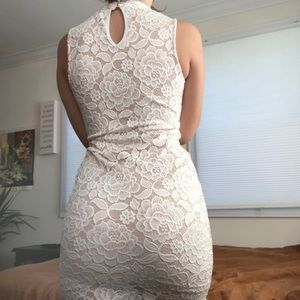 Dresses & Skirts - Nude/ White Floral Dress